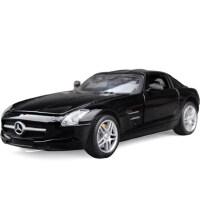 美致1:32奔驰SLS合金汽车模型声光回力合金跑车车模 儿童礼品玩具
