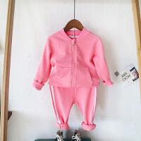 宝宝运动套装春装女童男童两件套儿童春秋新款衣服中小童休闲服潮