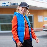 【3件3折到手价:83.7元】鸿星尔克(ERKE)童装 儿童马甲 2018冬季新品儿童运动休闲连帽潮酷男童马甲棉外套