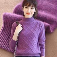 【断码清仓】韩版半高领羊绒衫女纯色修身加厚保暖毛衣针织衫气质