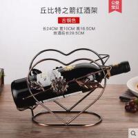 欧式铁艺红酒架摆件时尚家居葡萄酒瓶架展示架心形酒瓶架子时尚新品欧式新颖
