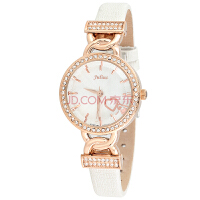 聚利时(Julius)浪漫镶钻桃心型装饰手表石英表皮带女士手表时尚女表JA-783