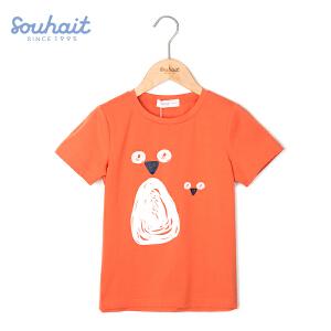 【3折价:38.7元】水孩儿souhait男童男大童亲子圆领衫AQAXM574