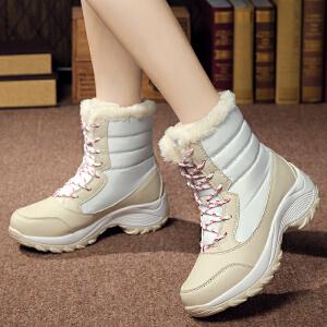 2017秋冬季厚底加绒高帮运动鞋女式休闲棉鞋韩版女鞋青年学生平底过冬鞋