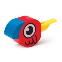 Hape小鸟口哨1-6岁儿童创意玩具益智早教婴幼玩具木制玩具E1026