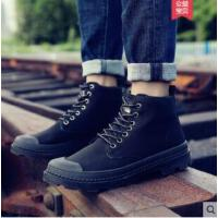 马丁靴男靴子潮百搭黑色短靴高帮男鞋英伦中帮工装雪地靴