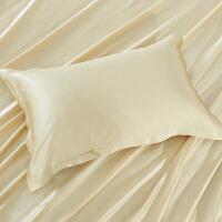 真丝枕头含芯1只装单人低枕800克蚕丝枕芯双面真丝枕套可拆卸