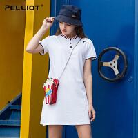 【5折再叠加店铺券】伯希和POLO衫女商务休闲质感舒适时尚连衣裙POLO裙