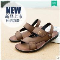 德国骆驼动感男士凉鞋 新款沙滩鞋男 真皮凉鞋韩版拖鞋子57852