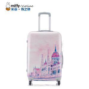 Miffy 米菲拉杆箱万向轮20寸登机密码箱时尚24寸行李箱旅行箱情侣