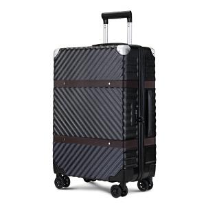 osdy防刮拉丝工艺复古行李箱万向轮旅行箱24寸托运箱A-950