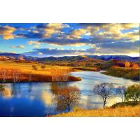 1000片木质拼图定制500炫彩油画自然风情 水天相接