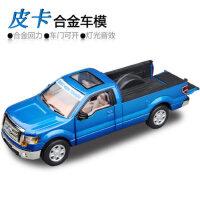 美致1:32福特猛禽皮卡 开门回力声光版车模合金汽车模型儿童玩具