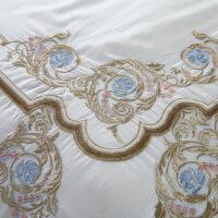 白色四件套80支棉刺绣棉床上用品1.8m床2.0m双人多件套*