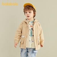 【3件4.5折:103.5】巴拉巴拉男童外套儿童宝宝童装时尚夹克小童大口袋
