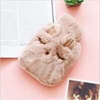 新款注水热水袋冬季毛绒便携暖手宝创意卡通学生暖水袋暖手宝