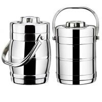 家用加厚不锈钢真空双层保温饭桶学生2/3层便当盒大容量多层提锅