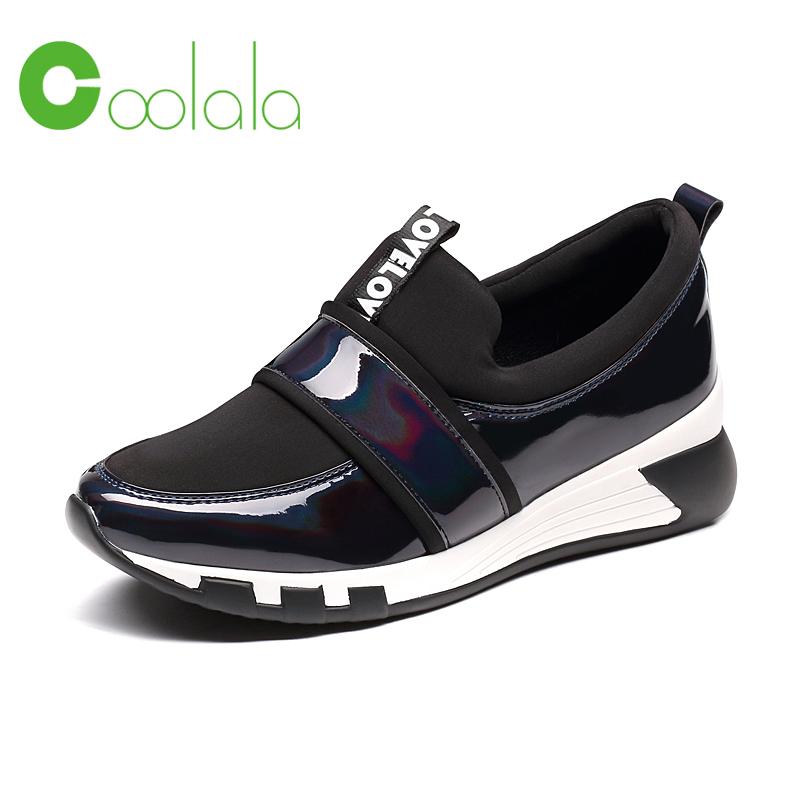 红蜻蜓coolala 秋季新款舒适运动鞋女单鞋欧美街头时尚休闲鞋