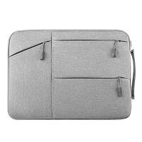 多口袋内胆包苹果联想女士14男15.6寸手提文件笔记本电脑包保护套