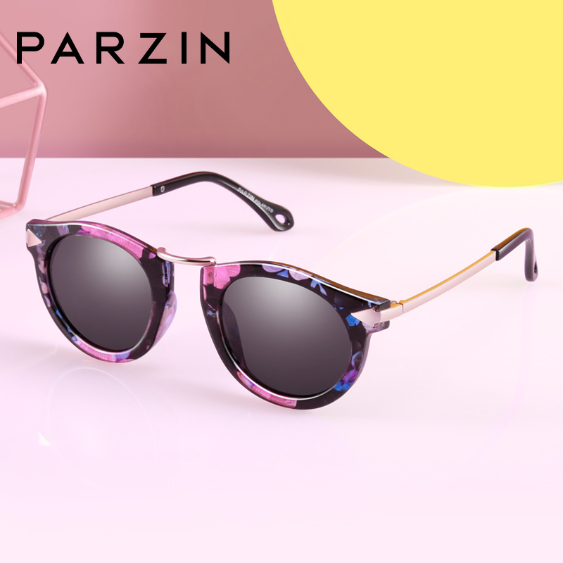帕森儿童太阳眼镜 女童复古男时尚潮流墨镜偏光镜 D2005