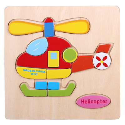积木拼插 拼图/拼板 勤得利拼图/拼板 卡通木质动物交通拼图 宝宝儿童