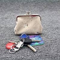 零钱包女学生短款棉麻布艺迷你小包包双层搭扣卡包硬币包 小清新