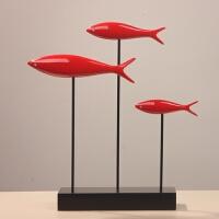鱼摆件家居饰品现代简约 家居摆设饰品客厅玄关软装客厅桌面办公