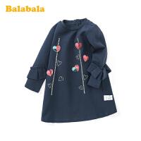 【4.9超品 3折价:80.7】巴拉巴拉童装女童裙子春季2020新款小童宝宝洋气长袖裙儿童连衣裙