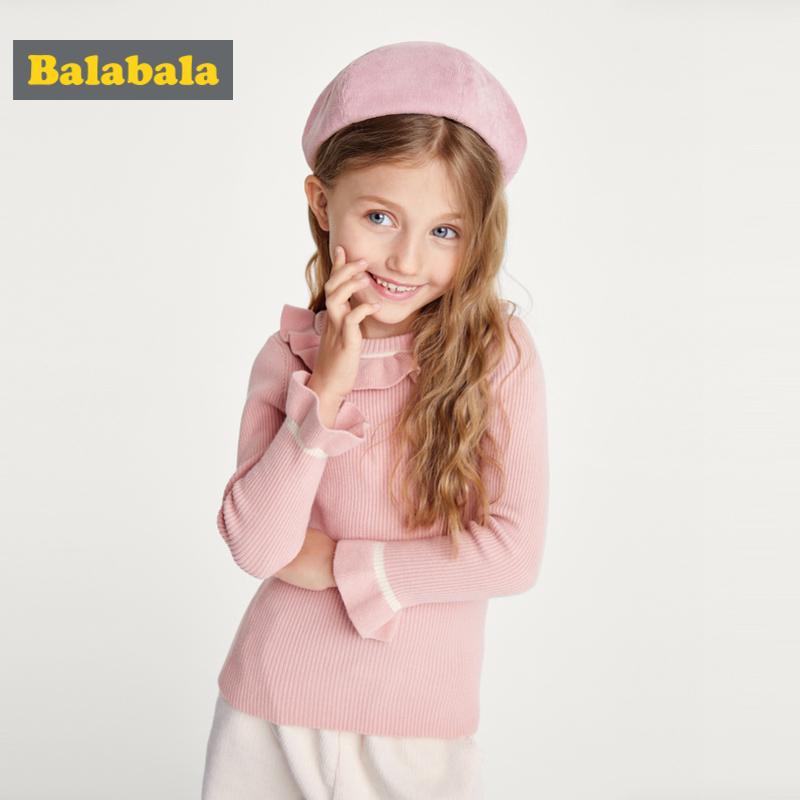 巴拉巴拉童装女童毛衣儿童针织衫新款秋装宝宝线衣套头上衣女