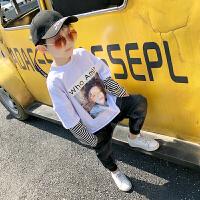 男童卫衣春秋2017新款韩版时尚儿童纯棉上衣套头薄款男童T恤长袖