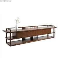 新中式实木电视柜视听柜 客厅卧室电视柜矮柜 样板房定制家具 整装