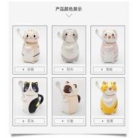 创意马克杯时尚陶瓷情侣杯子一对韩国创意可爱猫咪陶瓷马克杯生日礼物送男女朋友水杯 抱抱杯 6个杯 套装