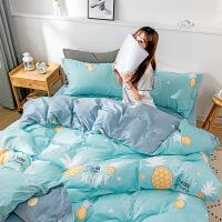棉四件套纯棉床单三件套学生宿舍单人被套被单被子2件套装1.5米