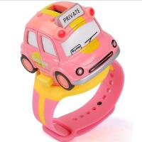仿真卡通小车手表合金小汽车模型玩具儿童滑行车男女孩出租车巴士