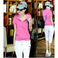潮流时尚夏季女装休闲运动服套装夏天韩版时尚修身显瘦短袖短裤两件套