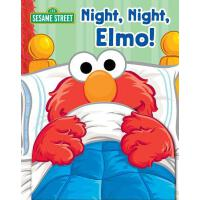 英文原版 芝麻街:晚安,阿莫翻翻书 Sesame Street: Night, Night Elmo!