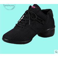 女式健身操运动软底跳舞鞋 广场舞蹈鞋 新款夏网面透气鞋拉丁舞鞋