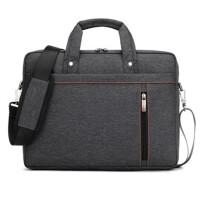笔记本电脑包单肩手提包12寸13.3寸14寸15.6寸17.3寸男女 升级版 黑色