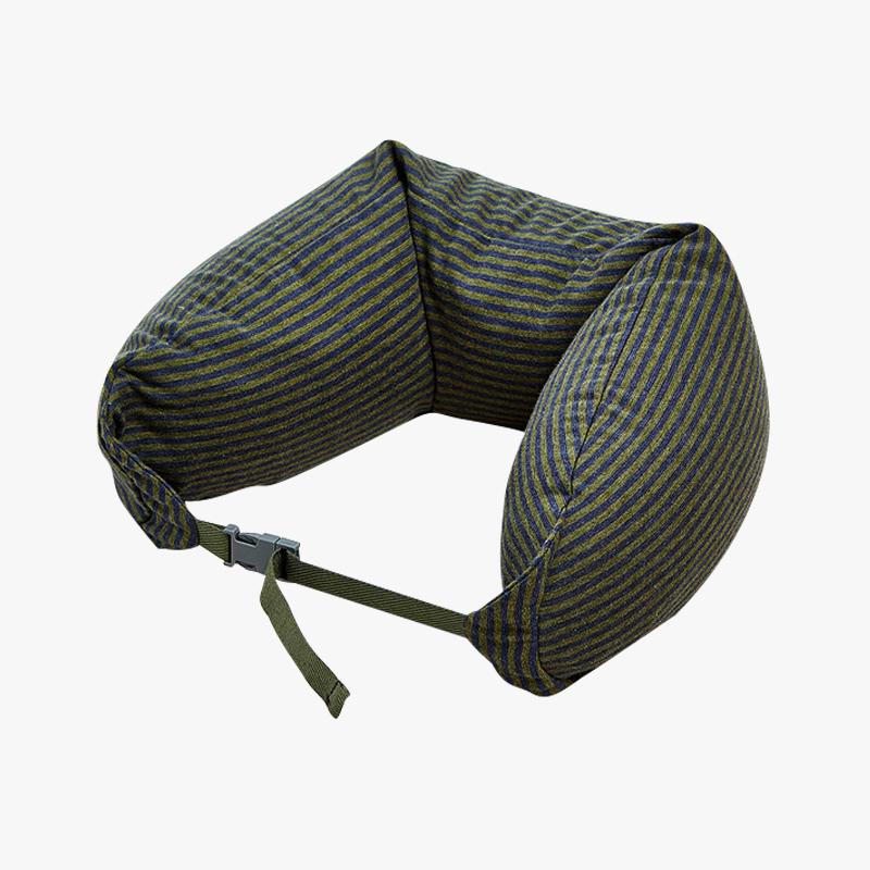 当当优品家纺 纯棉针织U枕 旅行枕午睡颈枕腰枕 烟墨当当自营 MUJI制造商代工