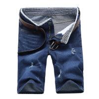 夏季牛仔短裤男薄款五分裤子男士7七分马裤宽松直筒5分休闲中裤