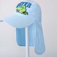 儿童遮阳帽子夏天户外出游男女童防晒护脖太阳帽宝宝鸭舌帽潮