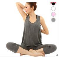 宽松大码瑜伽服套装 春夏新款瑜珈服三件套 宽松无袖背心 遮挡赘肉 健身服