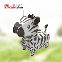 3D立体动物系列拼图 长颈鹿袋鼠斑马鳄鱼儿童创意礼物玩具