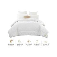 �羊毛被冬被全棉1.8米床加厚保暖被子1.5m床被芯 100%�羊毛被 230x230cm (1.8米床) 填充5.7斤