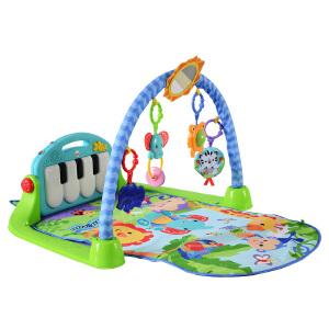 费雪新款脚踏钢琴婴儿健身架BMH49 宝宝早教多功能音乐益智健身器0-1岁玩具