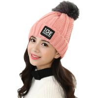 冬天潮百搭毛线帽加绒针织帽秋冬季帽子女士护耳帽