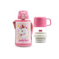 【限时秒杀】杯具熊(BEDDYBEAR)儿童保温杯带吸管316不锈钢双盖两用保温壶600ml 3D版-独角兽