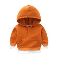 男童女宝宝春秋款0潮款套装衣服3岁小孩韩版长袖连帽卫衣服