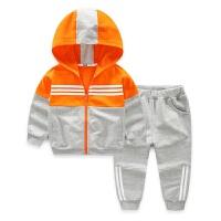 男童运动套装中大童 春新款儿童套装 卫衣开衫运动长裤子