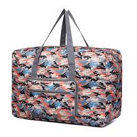 手提旅行袋大容量迷彩行李袋 短途收纳袋防水拉杆包便携整理袋